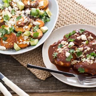Chicken Mole with Sweet Potatoes, Avocado & Queso Fresco Recipe