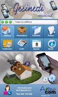 Screenshot of Gesinedi móvil
