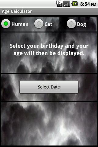 Age Calculator - screenshot