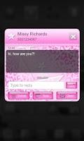 Screenshot of Pink Leopard Go SMS Star Theme