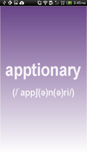 Apptionary
