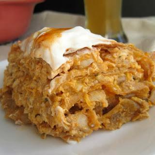 Buffalo Chicken Tortilla Pie