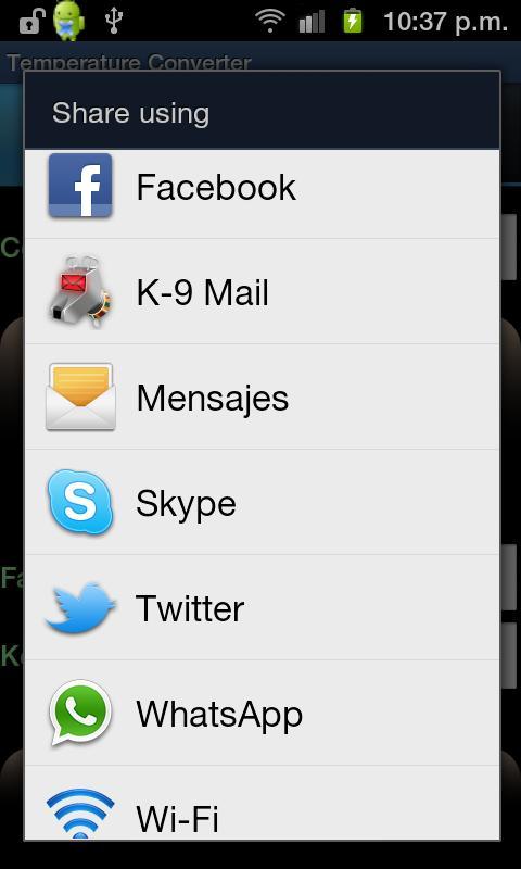 Temperature Converter - screenshot