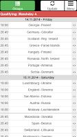Screenshot of EC 2016 Match schedule +Quali.