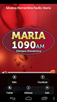 Screenshot of Romantic Music Radio María