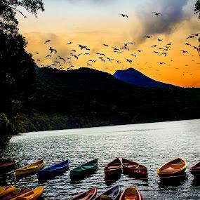Bulusan Lake by Blue Bell Bantigue - Landscapes Waterscapes (  )
