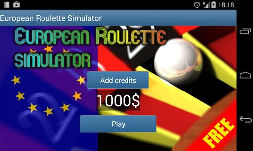 European Roulette Simulator