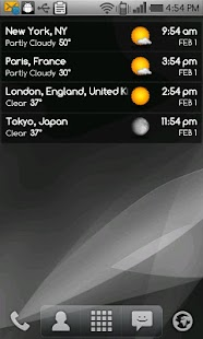 World clock & weather - screenshot thumbnail