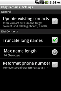 Copy Contacts - screenshot thumbnail