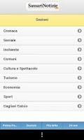 Screenshot of SassariNotizie.com