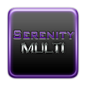 Serenity Launcher Theme Purple logo