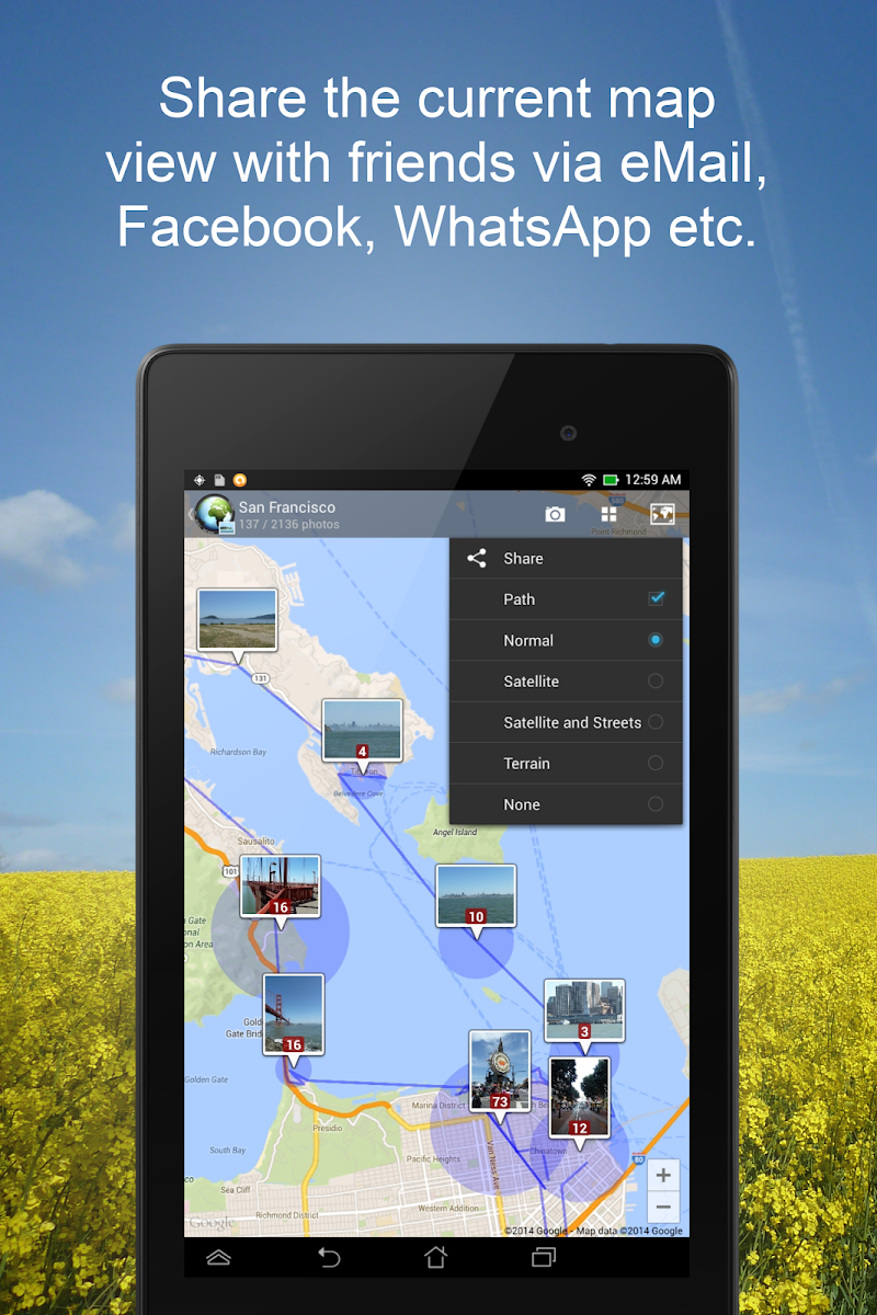 PhotoMap Gallery - Photos, Videos and Trips Screenshot 11