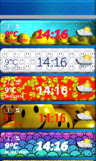 玩免費天氣APP|下載スマイリー時計天気ウィジェット app不用錢|硬是要APP