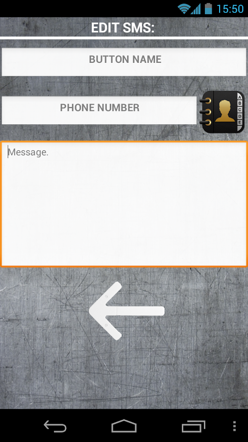 One click SMS - GSM remote - screenshot