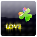 GO Launcher Love 4 Ever gold icon