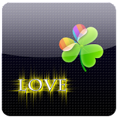 GO Launcher Love 4 Ever gold