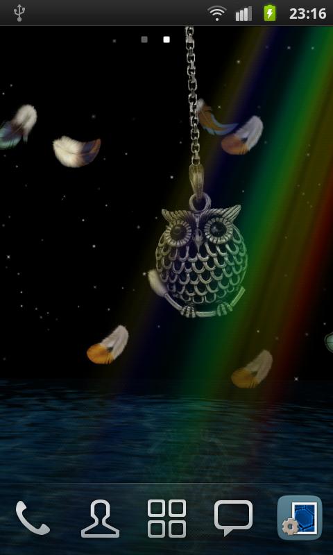3D Owl Pendant Live Wallpaper screenshots
