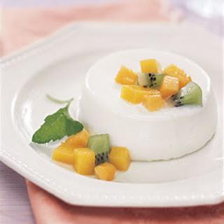 Buttermilk Panna Cotta with Tropical Fruit.