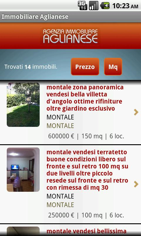 Immobiliare Aglianese - screenshot