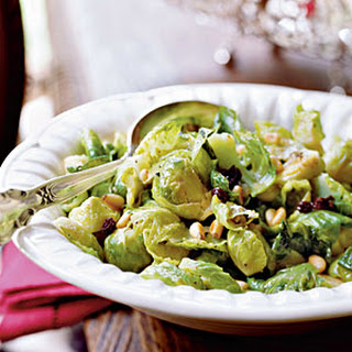 Brussels Sprouts with Currants and Pine Nuts.