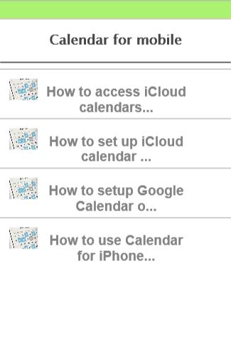 calendar for mobile
