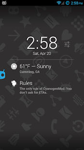 Protips on DashClock - screenshot thumbnail