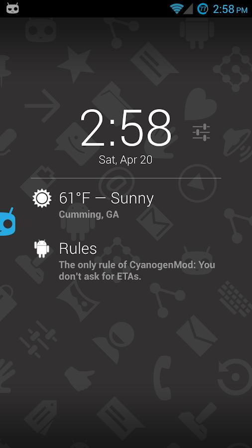Protips on DashClock - screenshot