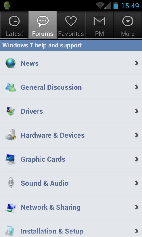 Seven Forums App- screenshot