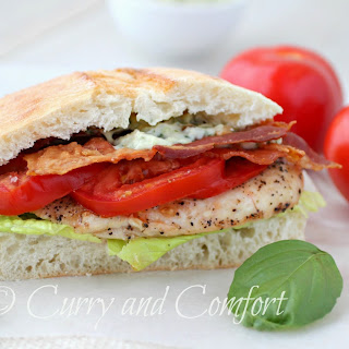 Grilled Chicken BLT Sandwich with Basil Jalapeno Mayo Recipe