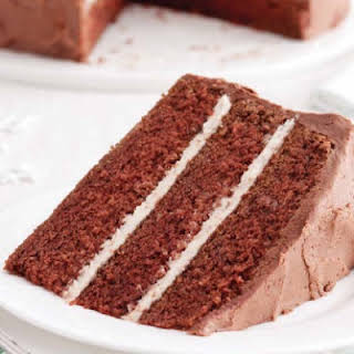 Chocolate Buttermilk Three-Layer  Cake.