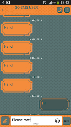 GO SMS Proのドット