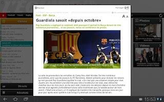 Screenshot of L'Équipe.fr Tab