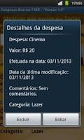 Screenshot of Despesas Diárias