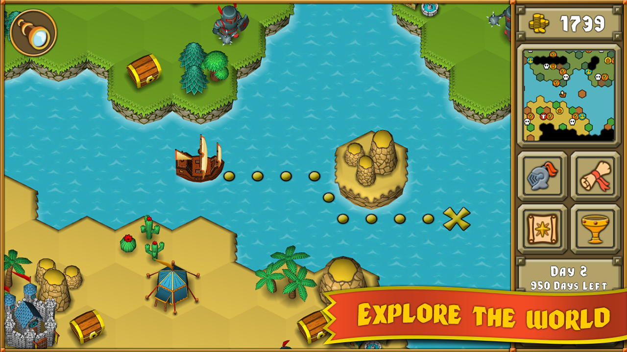 Screenshots of Heroes : A Grail Quest for iPhone