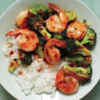 Spicy Shrimp-and-Broccoli Stir-Fry.