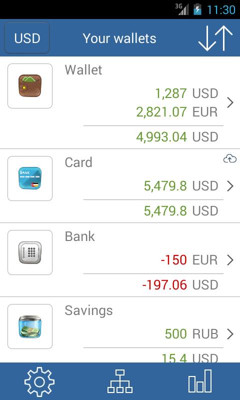 My wallets - Free - screenshot