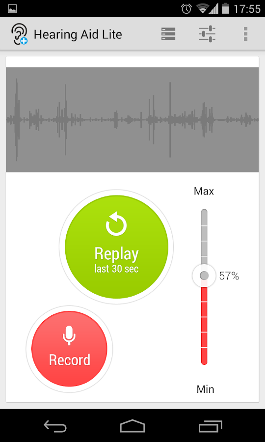 Hearing Aid with Replay (Lite) - screenshot