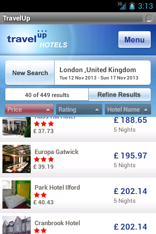Travelup- screenshot