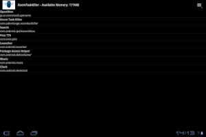 Screenshot of Xoom Task Killer