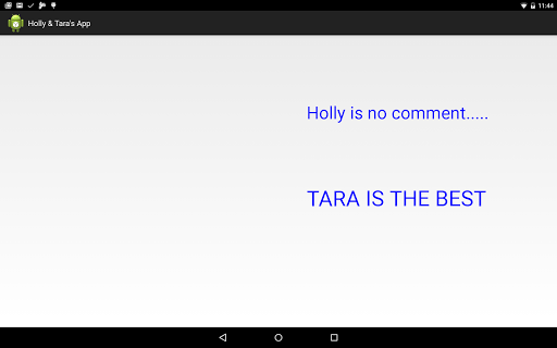 Holly and Tara's App