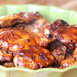 Oven Broiled Chicken with Barbecue Sauce.