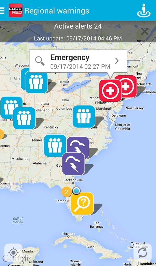 CodeRED Mobile Alert - screenshot