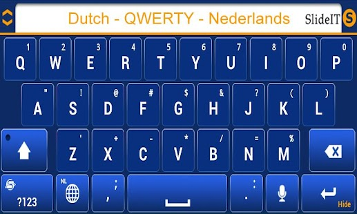 SlideIT Dutch QWERTY Pack- screenshot thumbnail
