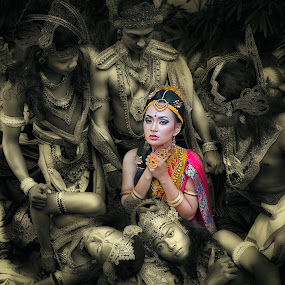 The Epic of Drupadi by Mdnoh Mnj - People Portraits of Women