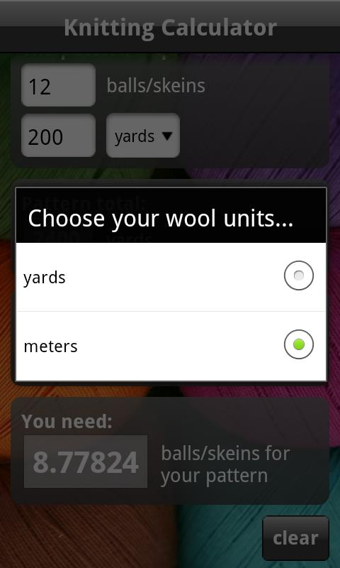 Knitting Calculator App : Knitting calculator android apps on google play