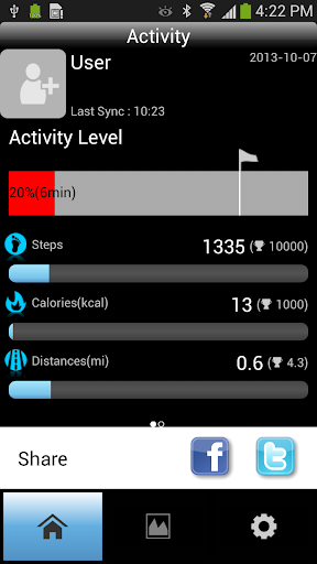 Activity Band for Android 4.3