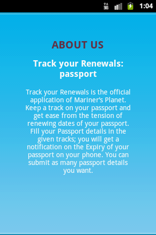Track ur Info Passport & Visa - screenshot