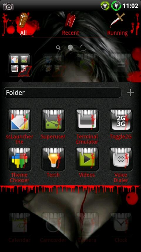 Vampire GO Launcher EX Theme- screenshot