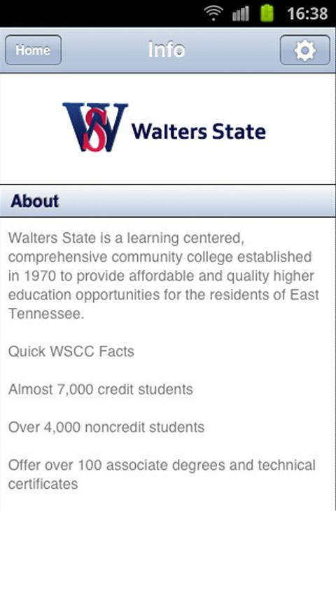 Walters State Comm. College- screenshot