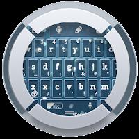Blue Sparkle TouchPal Theme 4.3 Pastel Blue